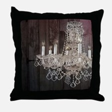 girly french country chandelier Throw Pillow