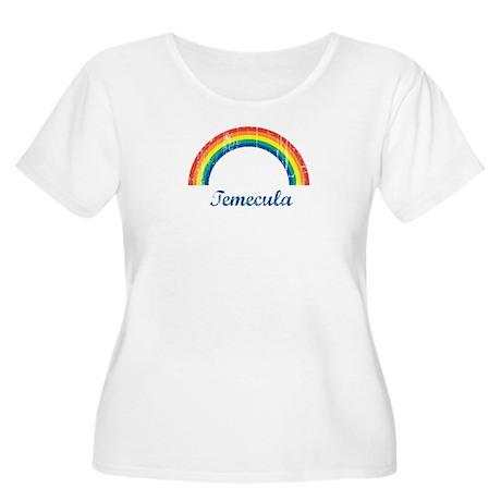Temecula (vintage rainbow) Women's Plus Size Scoop