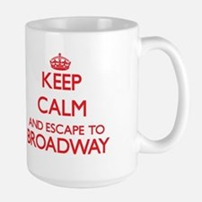 Keep calm and escape to Broadway New Jersey Mugs