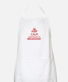 Keep calm and escape to Broadway New Jersey Apron
