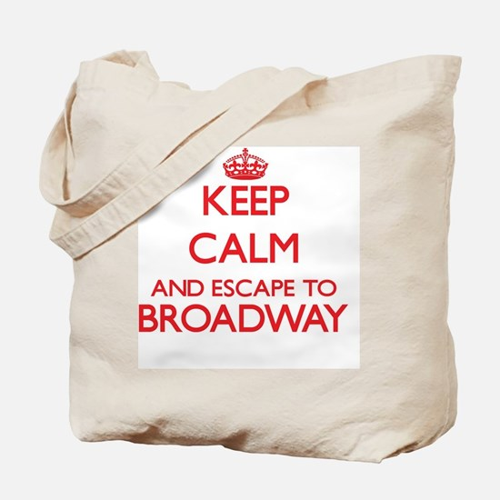 Keep calm and escape to Broadway New Jers Tote Bag