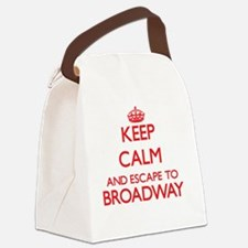 Keep calm and escape to Broadway Canvas Lunch Bag