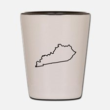 Kentucky State Outline Shot Glass