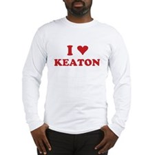 I LOVE KEATON Long Sleeve T-Shirt