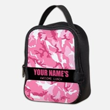 PERSONALIZED Pink Camo Neoprene Lunch Bag