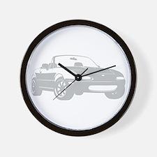 NA Silver Wall Clock