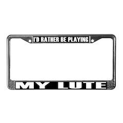 Musical Instrument License Plate Frame