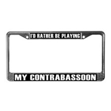 Musical Instrument License Plate Frame