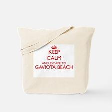 Keep calm and escape to Gaviota Beach Cal Tote Bag