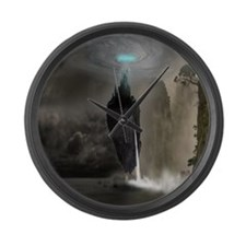 Mystical Castle Large Wall Clock