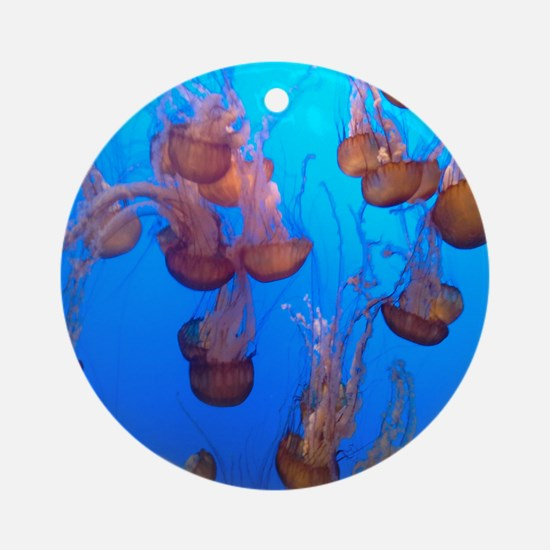 Underwater Jellyfish Ornament (Round)