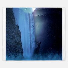 Mystical Waterfall with a Deer King Duvet