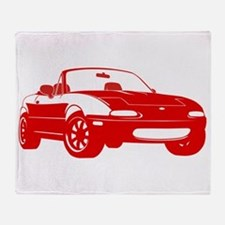 NA Red Throw Blanket