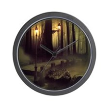 Misty Boardwalk Wall Clock