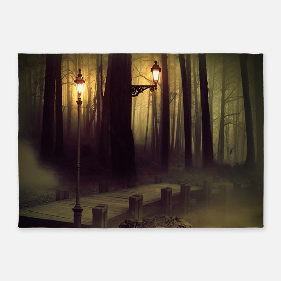 Misty Boardwalk 5'x7'Area Rug
