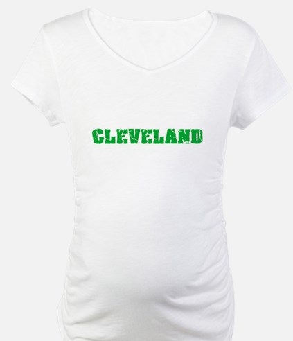 Cleveland Name Weathered Green D Shirt
