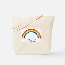 Seoul (vintage rainbow) Tote Bag