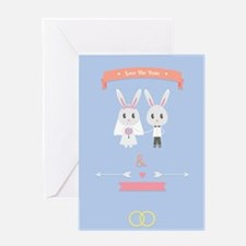 bunny save the date invitation Greeting Cards