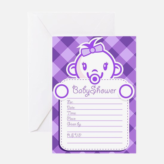 girl baby shower invitation Greeting Cards