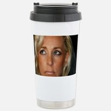 Blond Woman Stainless Steel Travel Mug