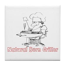 NATURAL BORN GRILLER - BARBQ Tile Coaster