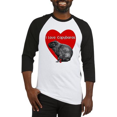 i Love Capybaras Baseball Jersey