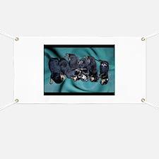 sleeping puppies photograph Banner