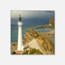 "Seaside Lighthouse Square Sticker 3"" x 3"""
