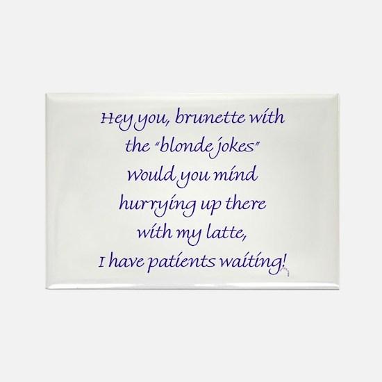 Funny Smart blonde Rectangle Magnet