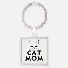 Cute Mom Square Keychain