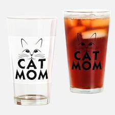 Cute Cat mom Drinking Glass