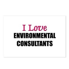 I Love ENVIRONMENTAL CONSULTANTS Postcards (Packag