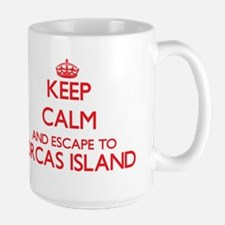Keep calm and escape to Orcas Island Washingt Mugs