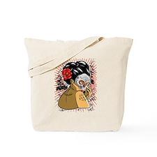 Skull Geisha Tote Bag