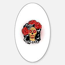 La Muerta Sticker (Oval)