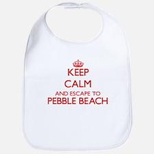 Keep calm and escape to Pebble Beach Californi Bib