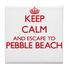 Keep calm and escape to Pebble Beach Tile Coaster
