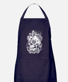 Sugar Skull of Death Apron (dark)
