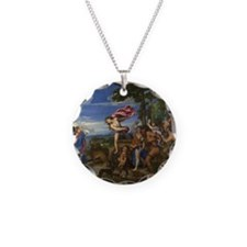 Cute Pagan Necklace Circle Charm
