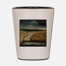Funny Louisiana art Shot Glass
