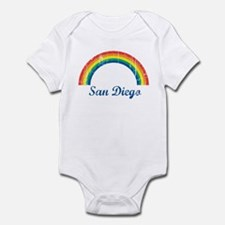 San Diego (vintage rainbow) Infant Bodysuit
