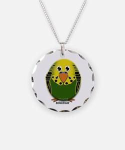 Green Male Budgerigar Necklace