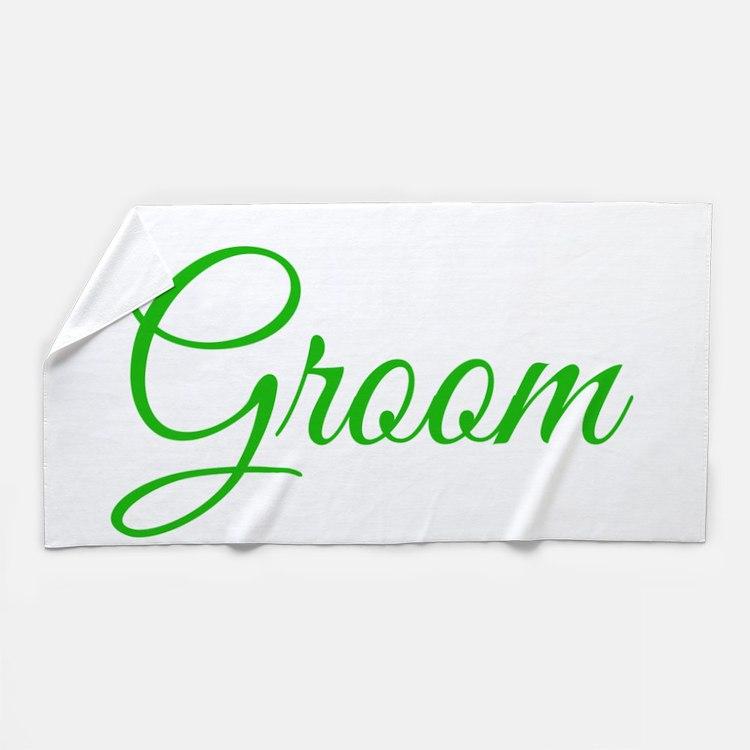 Groom Beach Towel