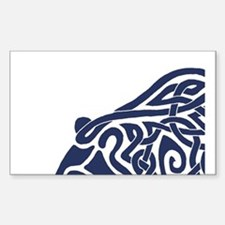 Bear Knotwork Blue Decal