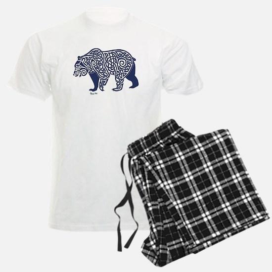 Bear Knotwork Blue Pajamas