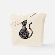 Black Cat Grafitti Tote Bag