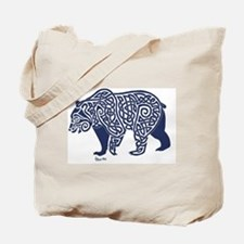 Bear Knotwork Blue Tote Bag