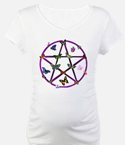 Wiccan Star and Butterflies Shirt