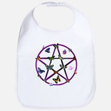 Wiccan Star and Butterflies Bib