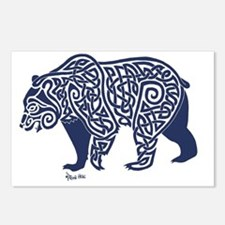 Bear Knotwork Blue Postcards (Package of 8)